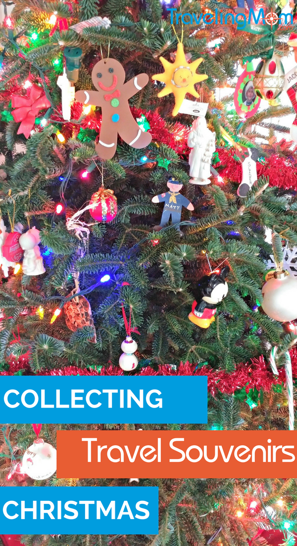 Do your travel souvenirs need focus? Consider collecting Christmas ornaments as travel souvenirs year round. Pulling them out in December is a fun way to relive family travel memories!