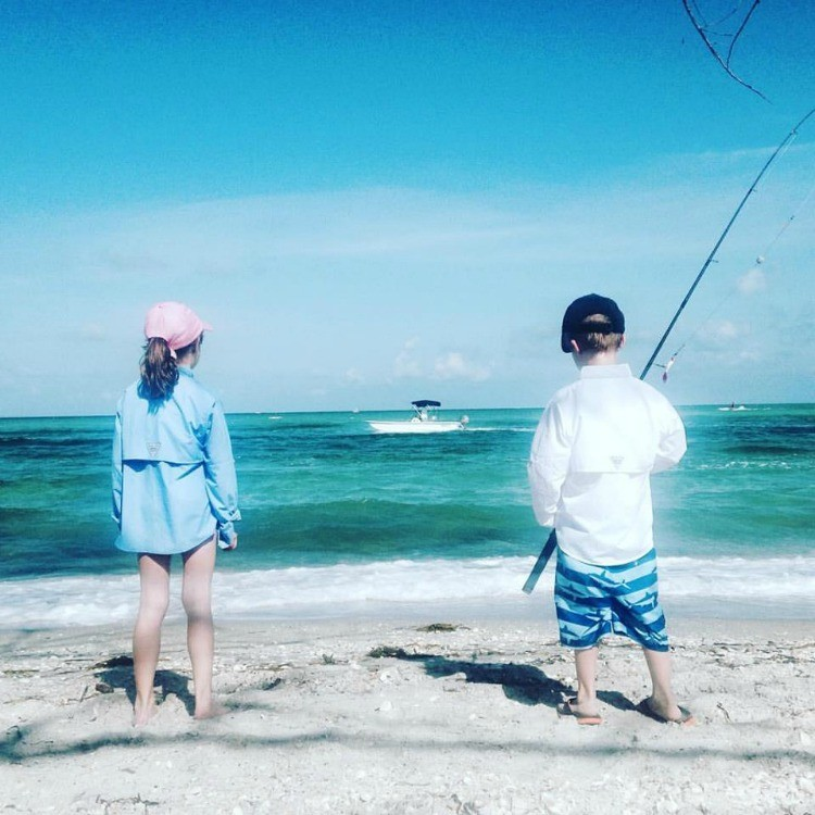 Surf fishing is a favorite family past-time on Florida beaches.