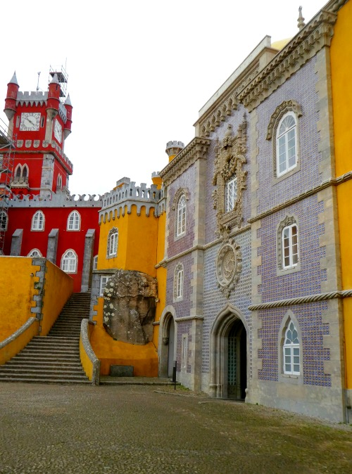 When you visit Portugal, be sure to take a tour of Pena Palace in Sintra, it's one of the unique and wonderful things about this country!