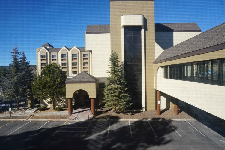 Parking at the DoubleTree isn't difficult at all, making it a very family friendly hotel in Flagstaff. Photo by Multidimensional TravelingMom, Kristi Mehes.