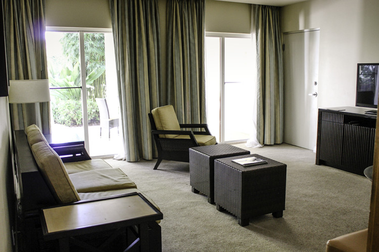 The living room in the villas at The Naples Grande. Photo Credit: Hannah Rinaldi   Fabulously Frugal TravelingMom
