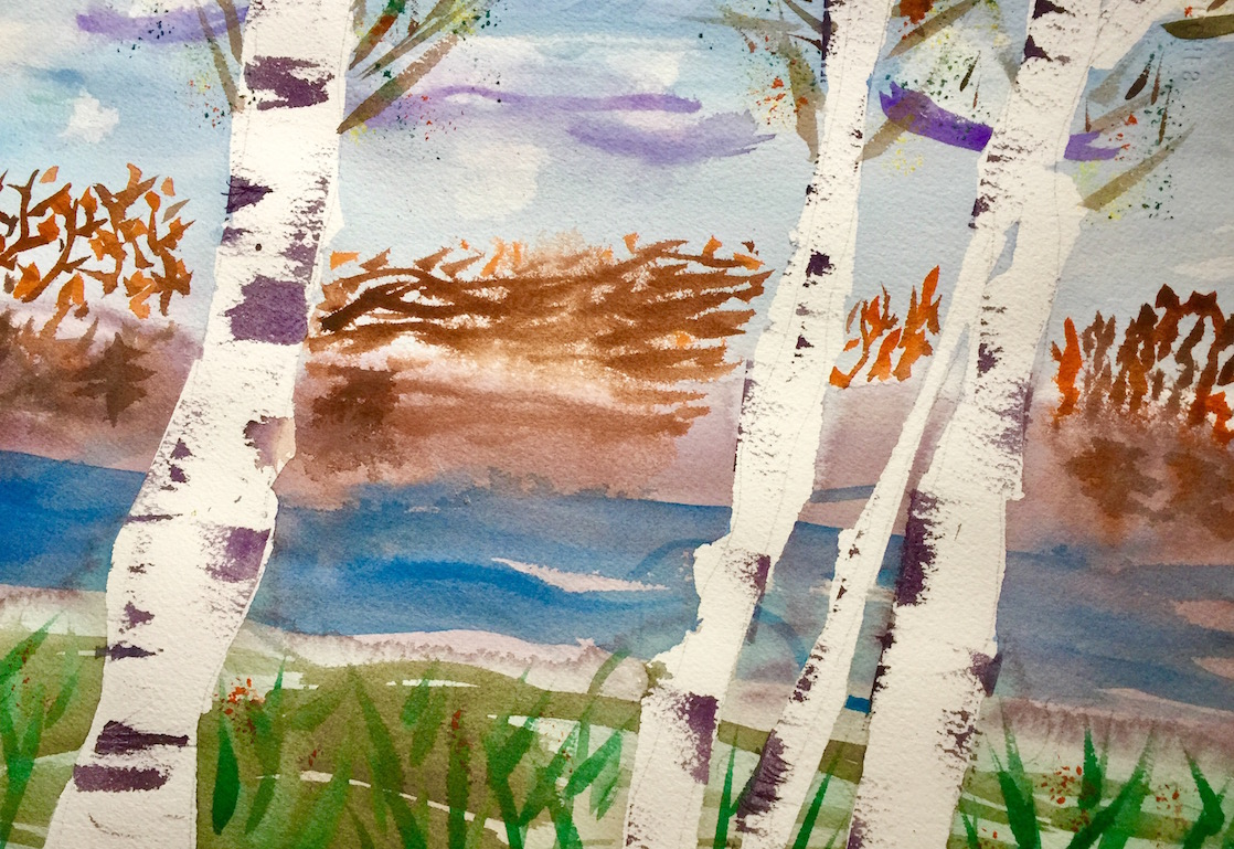 Iconic Wisconsin birch trees inspires budding artists.