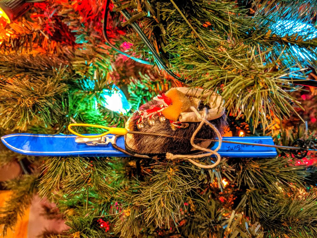 Unique Christmas ornaments - ski boot from Switzerland