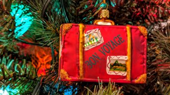 Unique Christmas ornaments - suitcase