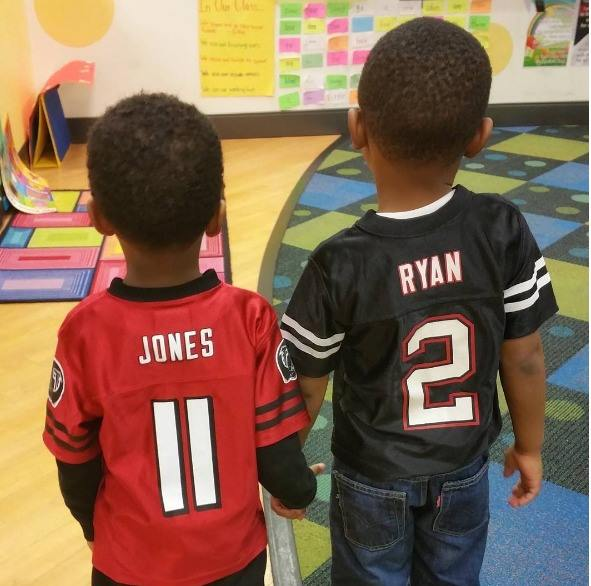 When your preschooler wants to show off his favorite team, you let him! Photo by Kendra Williams Pierson, Long Weekend TMOM