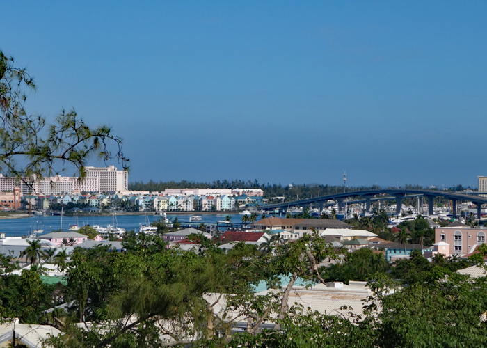 Fort Fincastle offers panoramic views of Nassau, Bahamas.