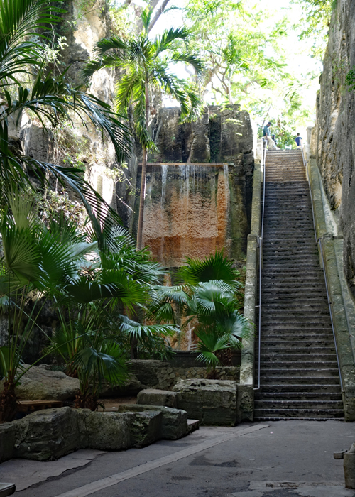 The Queens Staircase was hand carved by slaves in the Bahamas. | sponsored | Nassau | Paradise Island | Cruise Excursion |
