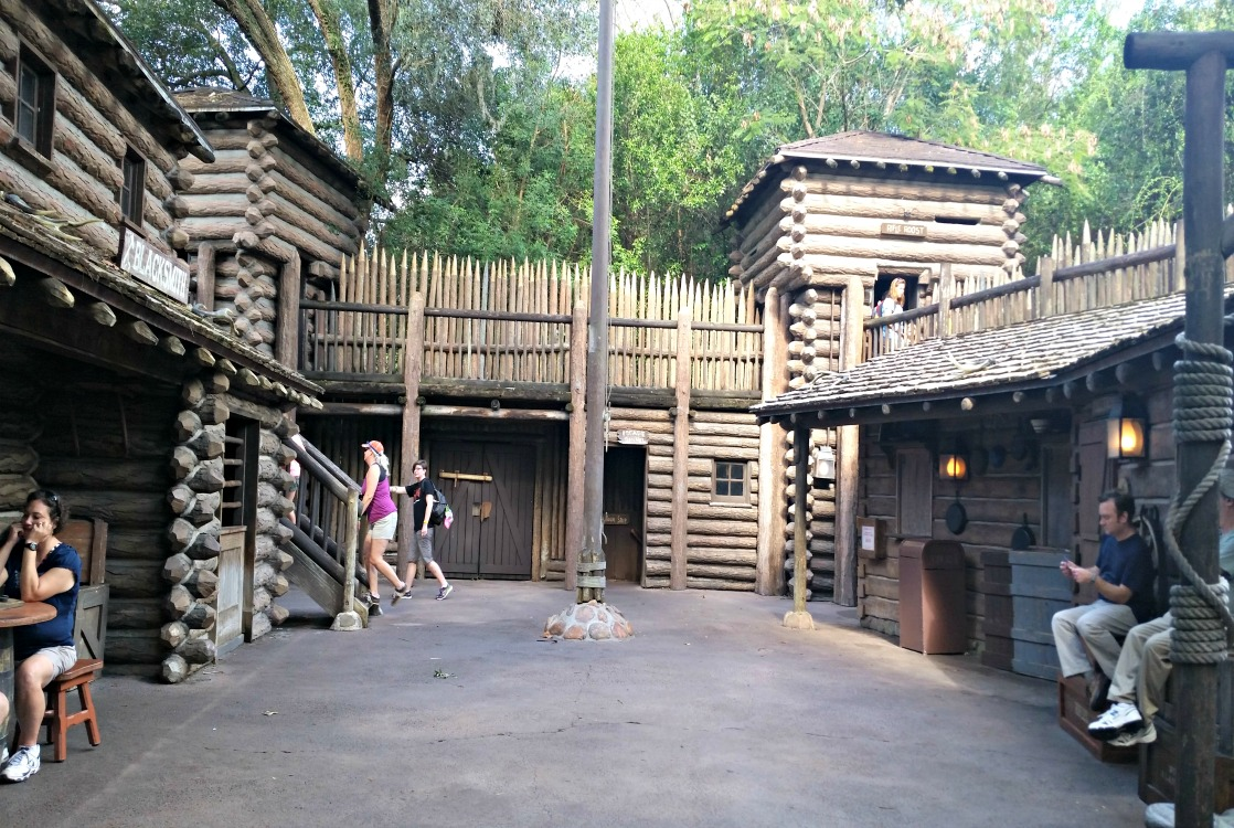 There's plenty of room to run and explore at Fort Langhorn on Disney's Tom Sawyer Island!