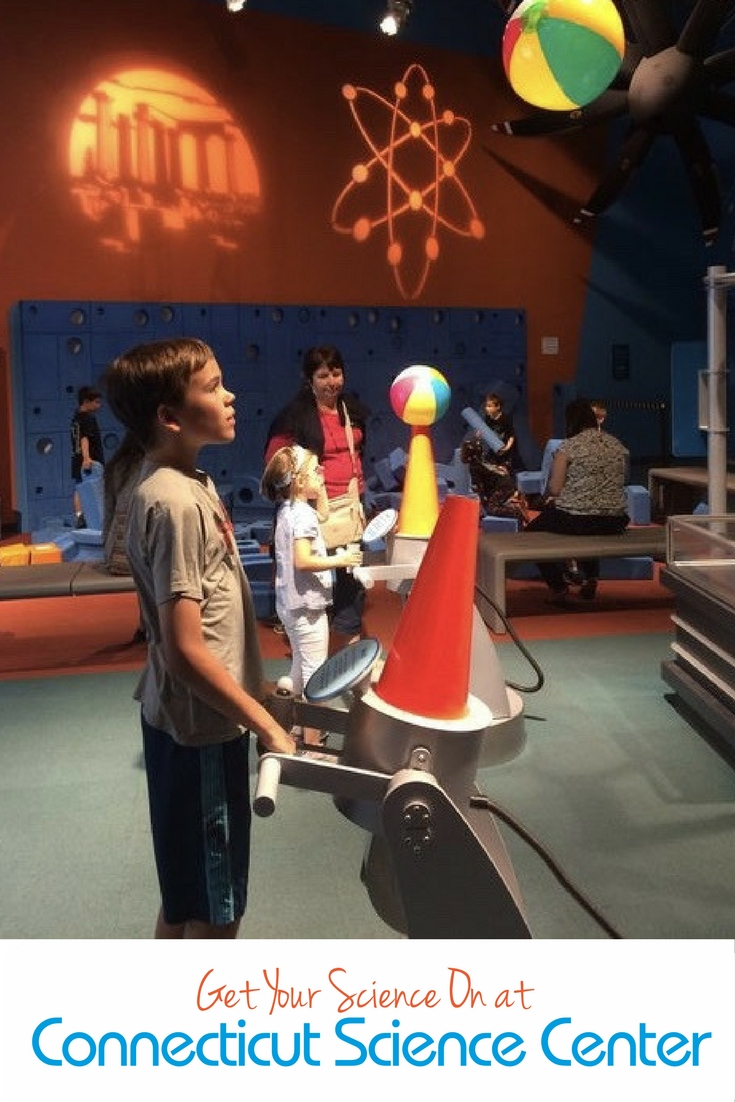 Science is more than test tubes and chemistry sets at the Connecticut Science Center. There are things to do with kids and fun stuff to keep parents engaged as well -- not to mention great restaurants nearby.