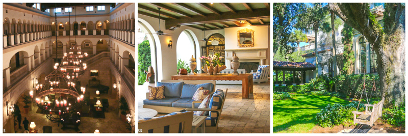 The Cloister's lobby space is very romantic, as is the design of the Beach Club.