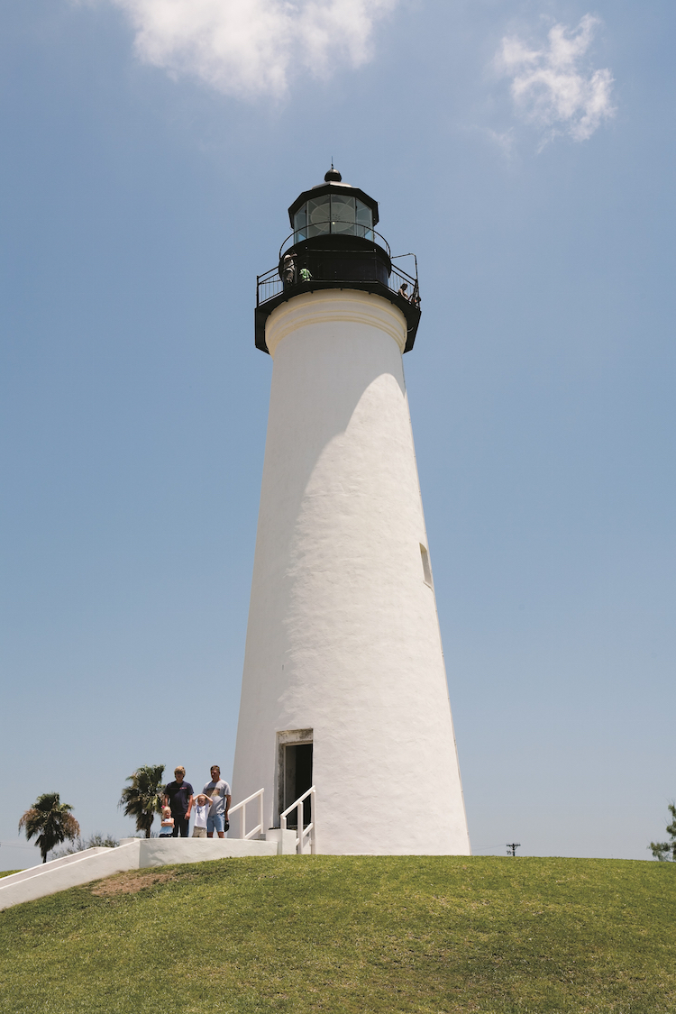The Port Isabel Lighthouse in a Texas national park.