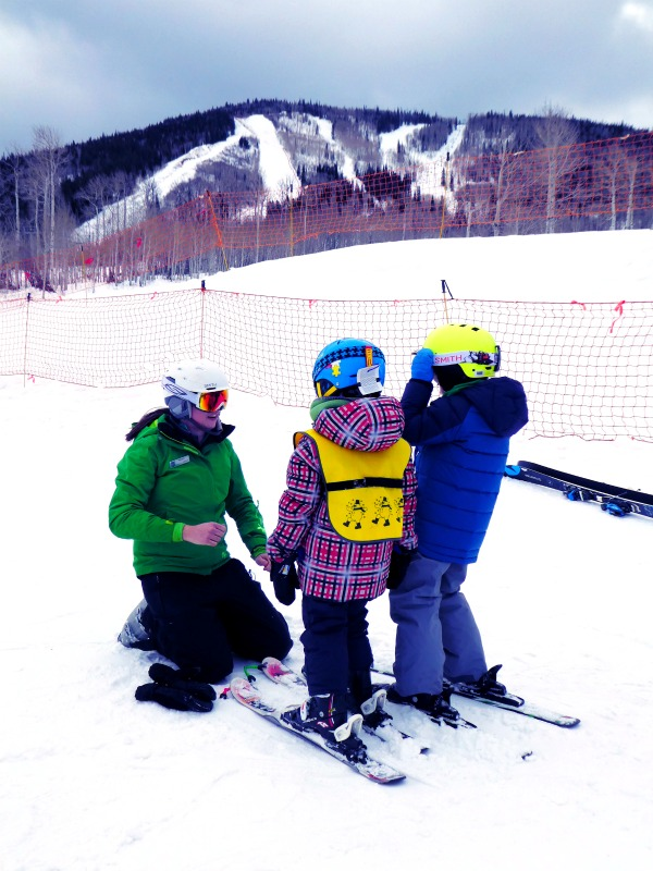 Colorado's Powderhorn ski resort offers ski school. This smaller ski mountain is more affordable and perfect for families.