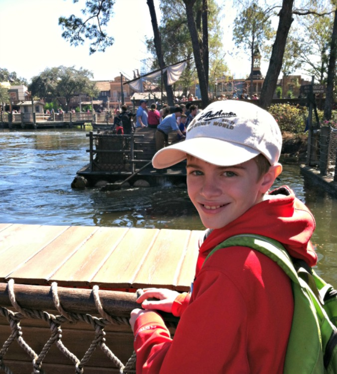Riding the raft over to Disney's Tom Sawyer Island is part of the fun!