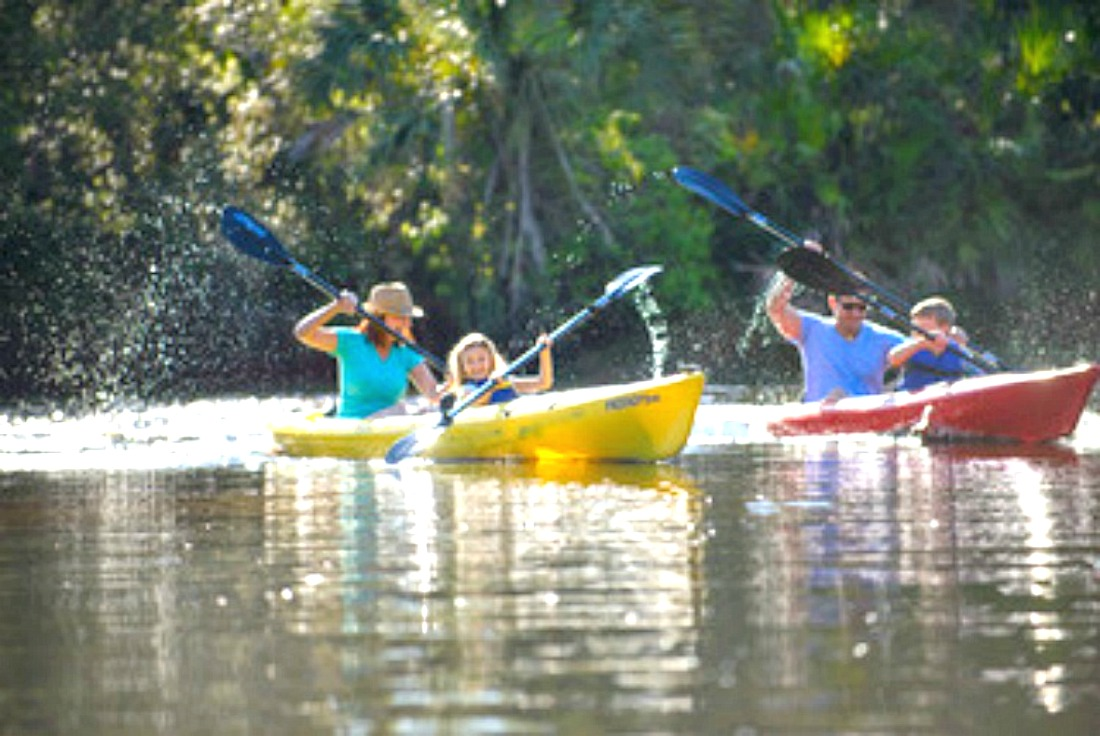 what should I consider to make a quick family getaway easy and fun like kayaking