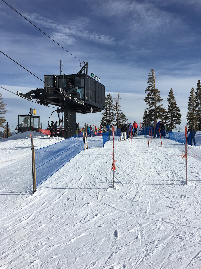 Squaw Valley ski resort tops for families with lots of green runs.