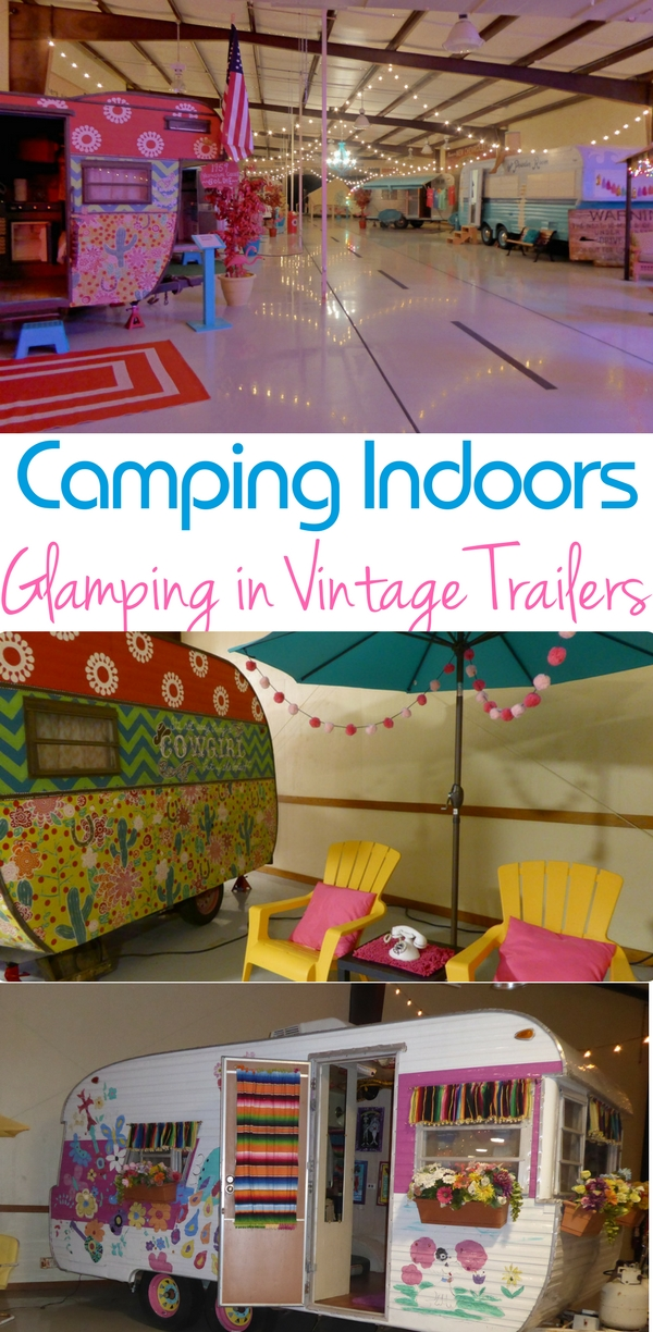 Vintage trailers that are spruced up make a perfect glamping destination.