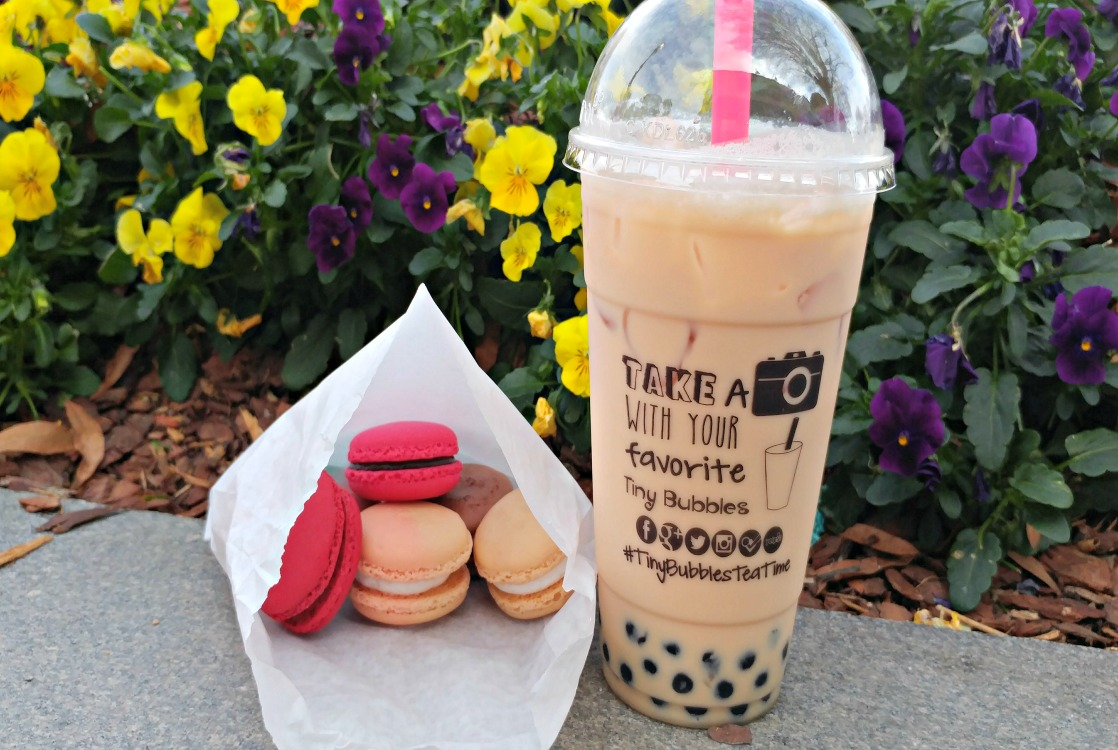 Bubble tea is all the rage. The Marietta Square is home to Tiny Bubbles Tea Bar. The macarons are delicious!