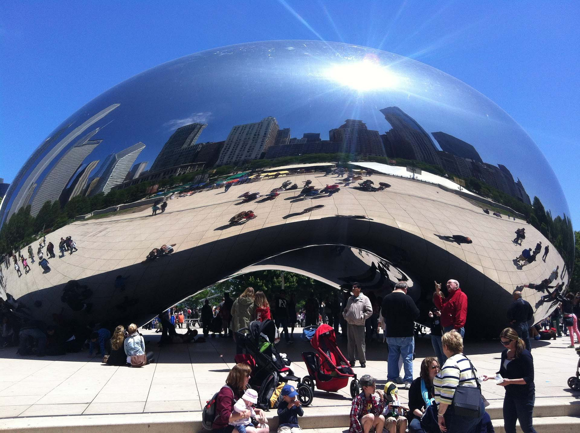 Taking a selfie in the Bean is a must-do on a 3 day itinerary for Chicago