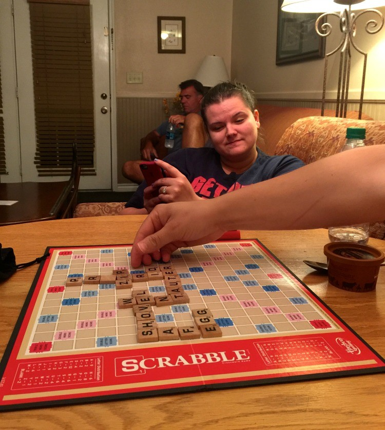 Texas Hill Country Playing Scrabble