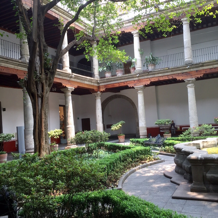 Reboost Mexico City energies with lunch in the Franz Mayer decorative arts museum courtyard.