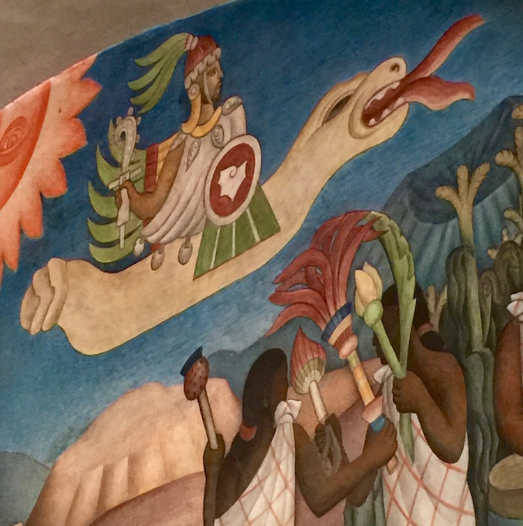 Nine Diega Rivera murals lend historic excitement to the National Palace in Mexico City