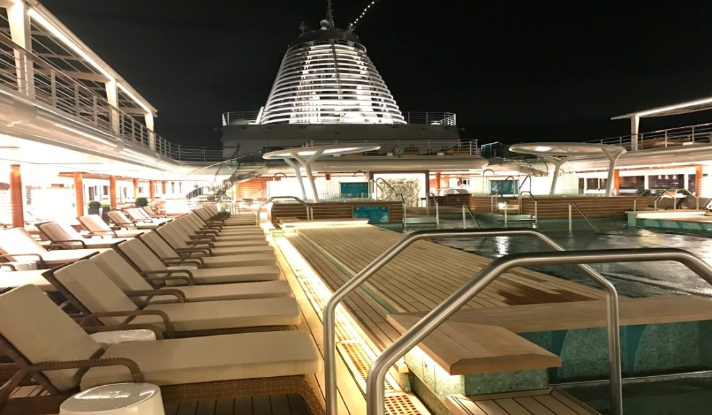 Regent Seven Seas deck with pool