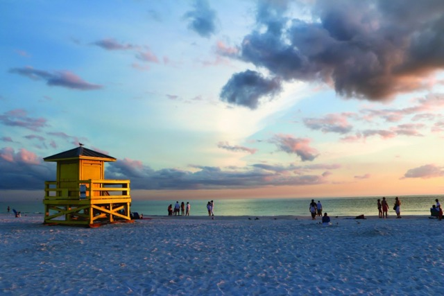 Sunset at Siesta Key Beach is a treat to enjoy on your babymoon
