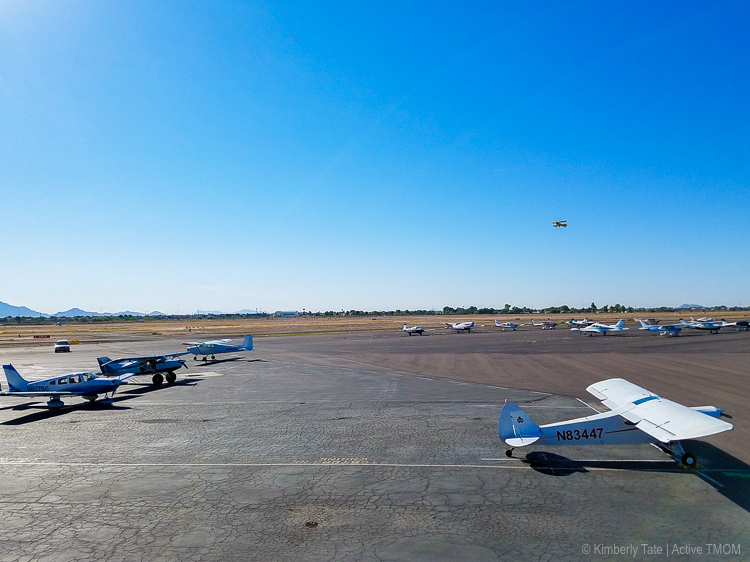 Watch airplanes take off and land at the Hangar Cafe located at the Chandler Municipal Airport | photo credit: Kimberly Tate / Active TravelingMom