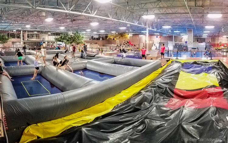 Bounce off the walls at Kids That Rip Family Action Sports Center in Chandler | photo credit: Kimberly Tate / Active TravelingMom