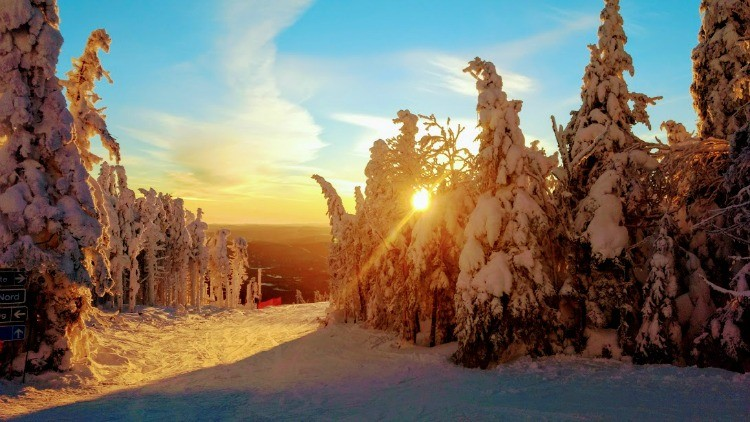 Snowshoeing trails in Tremblant can lead to beautiful places, and included in our Tremblant Winter Activity Guide.
