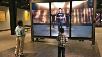 One of the interactive sections of the African American Museum.