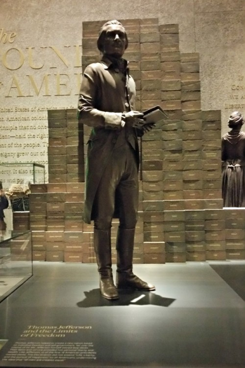 Thomas Jefferson is in the African American Museum because of his part of the full American History story.
