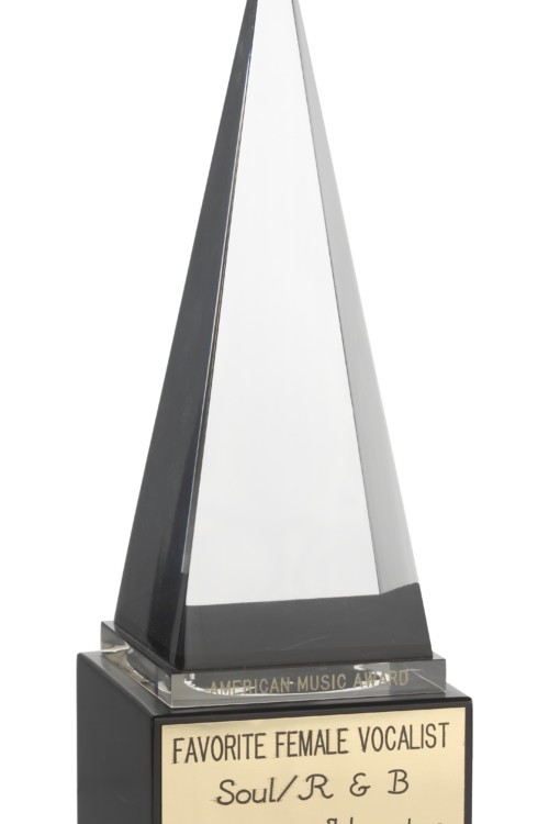 American Music Award trophy on display at the Smithsonian National Museum of African American History and Culture