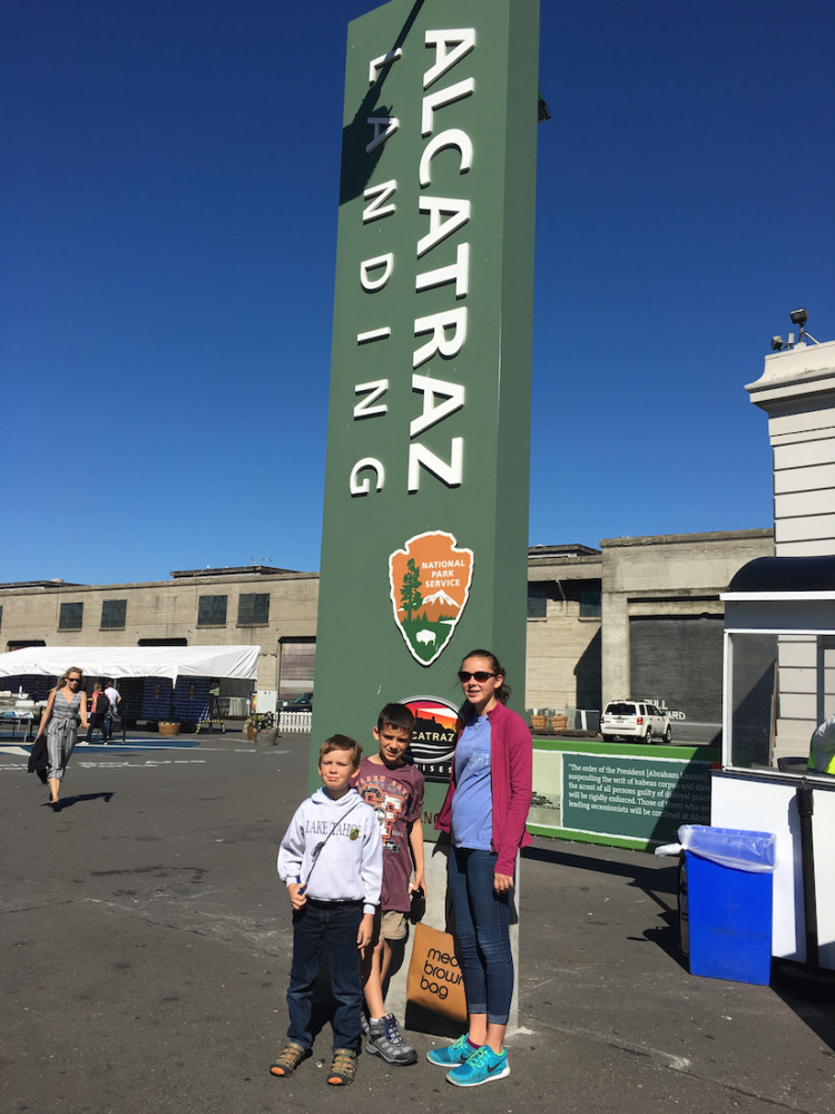 An Alcatraz Cruises ferry takes families to see the national park site in San Francisco.