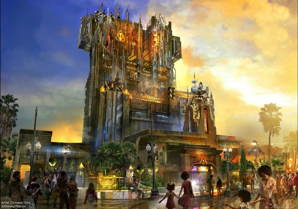 A scale model created by Walt Disney Imagineering shows the exterior of Guardians of the Galaxy-Mission: BREAKOUT! a new attraction at Disney California Adventure park, debuting May 27, 2017. Photo Credit: Artist Concept/Disneyland Resort