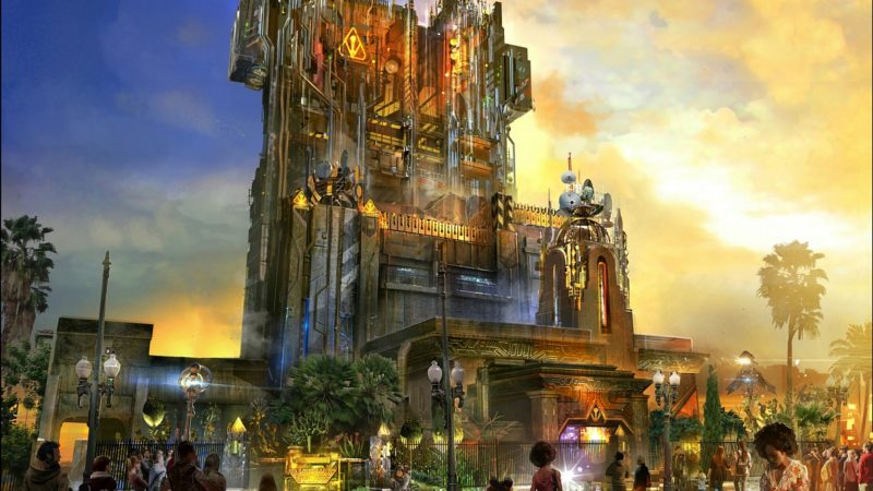 A scale model created by Walt Disney Imagineering shows the exterior of Guardians of the Galaxy–Mission: BREAKOUT! a new attraction at Disney California Adventure park debuting May 27, 2017.