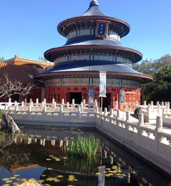 The China Pavilion at Disney, a must see when touring even with only one day at Epcot.