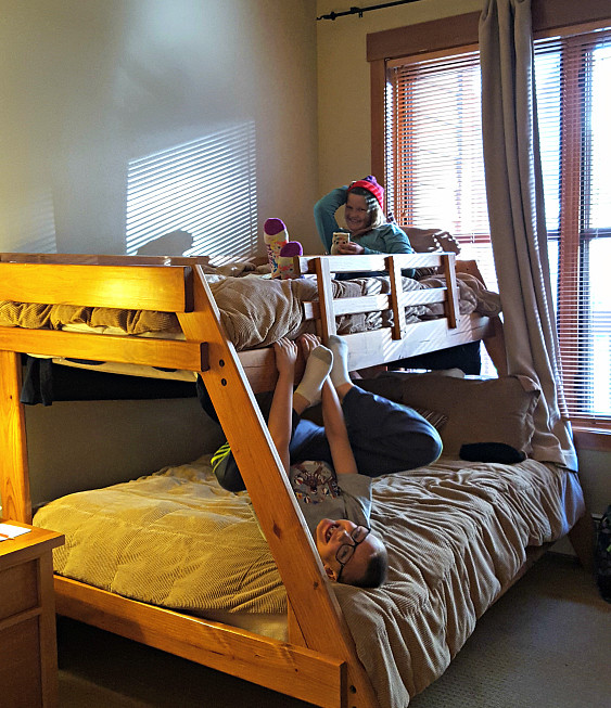 Family friendly Colorado ski resort Copper Mountain includes accommodations with bunk beds.