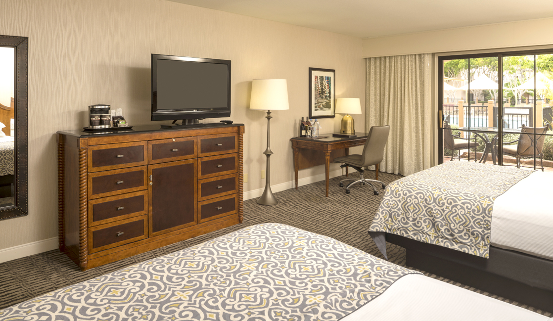 Spacious rooms and modern amenities await families at the Fess Parker Resort.