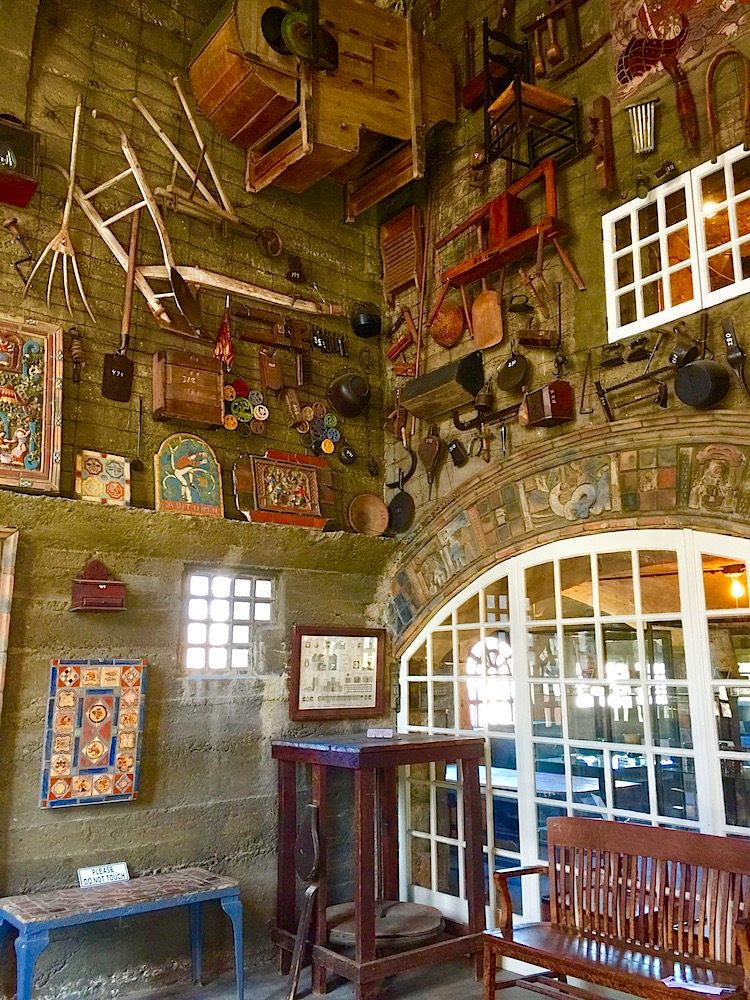 The wacky inside of the Moravian Tile Works is fun for kids in Bucks County, Pennsylvania.