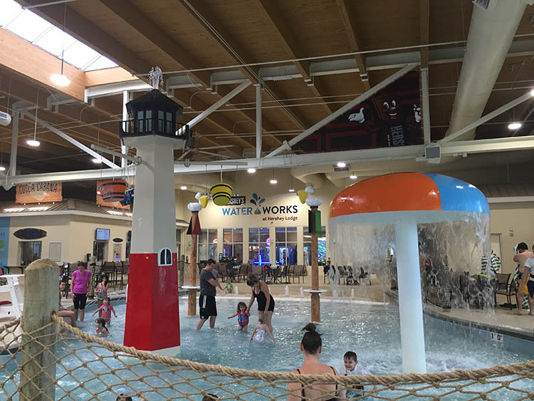 Hershey Lodge Water Works toddler Pool was a hit with little visitors.