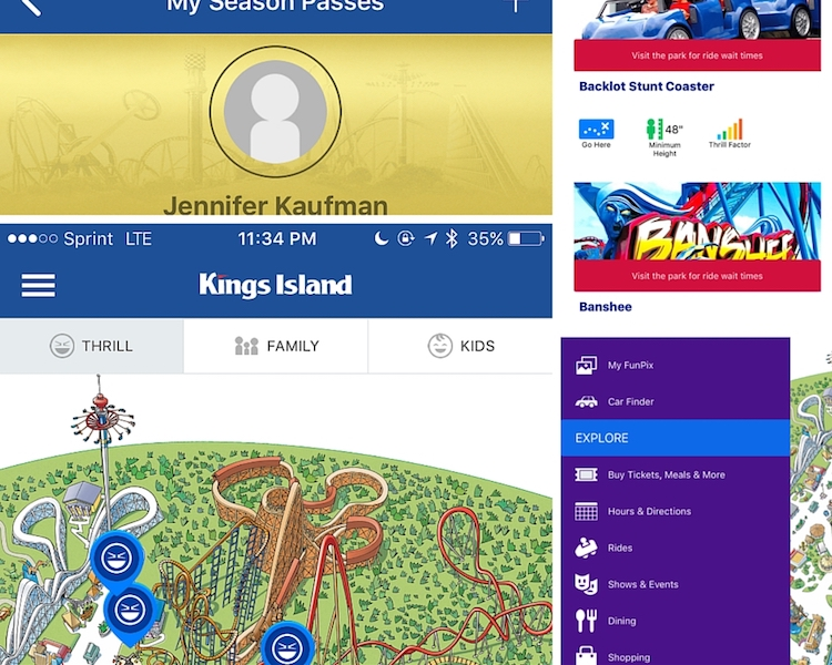 Kings Island Tips including downloading the Kings Island app, overflowing with valuable information. including a map of the park and ride details, show that one of the first Kings Island tips you should follow is downloading the park-specific app.