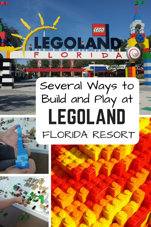 The Legoland Florida Resort offers a combination of exciting theme park fun combined with quiet LEGO building stations throughout the Legoland Hotel and Legoland Park.