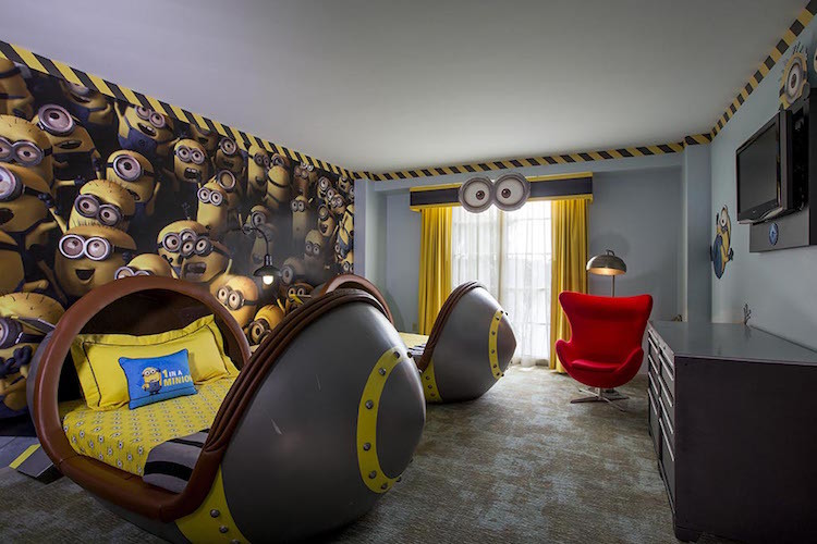Loews Portofino Bay Hotel - Universal Orlando's Minion room is a must-see.