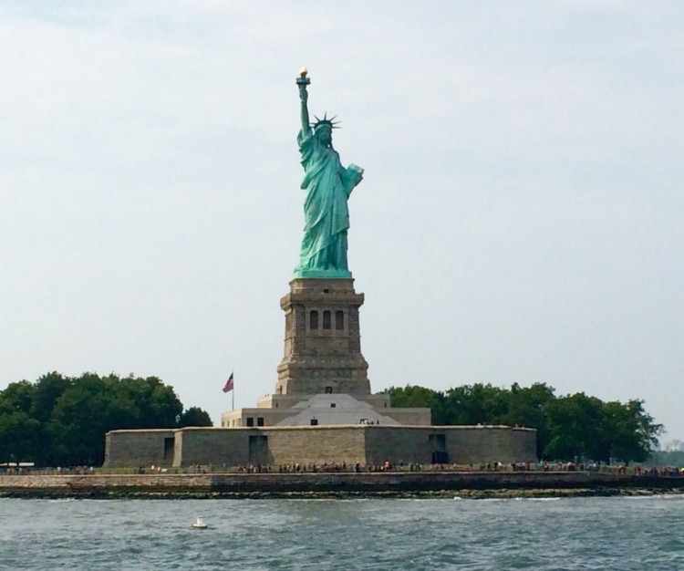 Statue of Liberty in New York City offers teens a lesson in history.