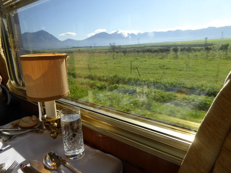 The Blue Train ride through South Africa.