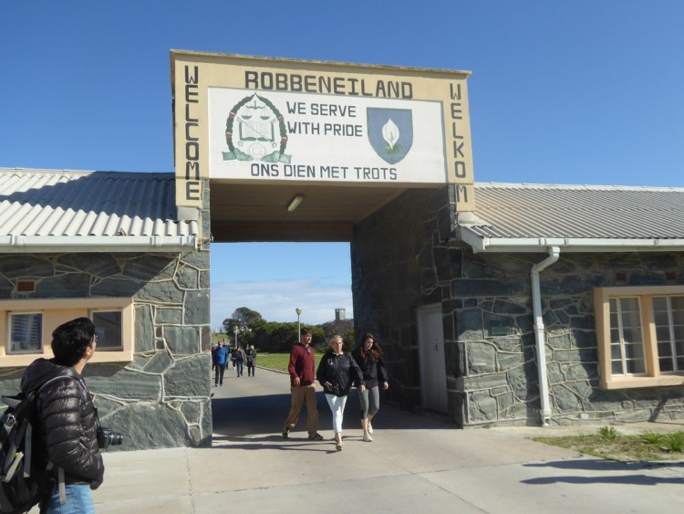Robben Island, the prison where Nelson Mandela was held for nearly two decades, in South Africa.