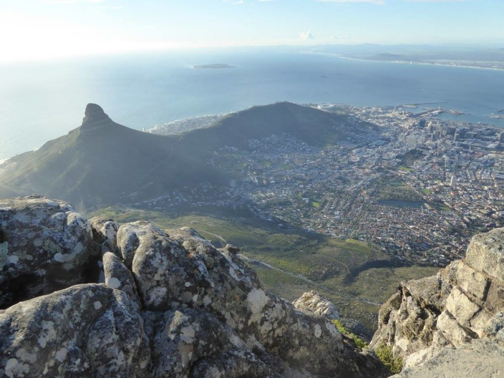View of South Africa from a helicopter on a multigen family vacation.