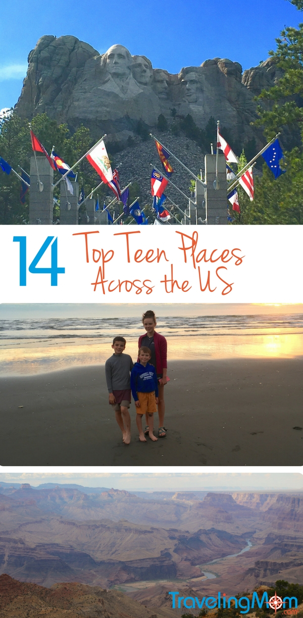 Looking for inspiration for travel with your teens? Got the list with destinations on both coasts. Check out these top teen destinations.