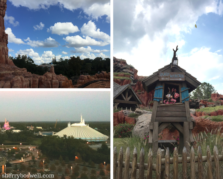 Splash Mountain, Space Mountain and Big Thunder Mountain can be enjoyed during one day at the Magic Kingdom.